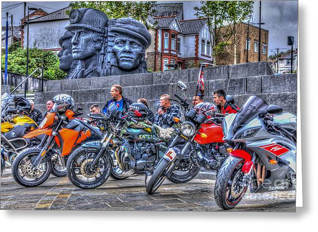 Motorcycle Rally 2 Greeting Card by Steve Purnell