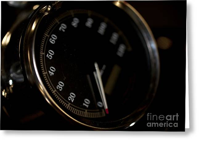 Motorcycle Speedometer Greeting Card by Wilma  Birdwell