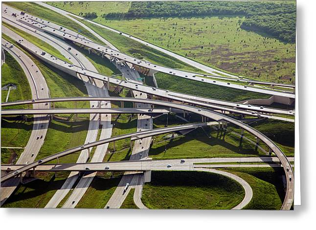 Motorway Junction Greeting Card by Jim West