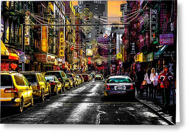Greeting Card featuring the photograph Mott Street by Chris Lord