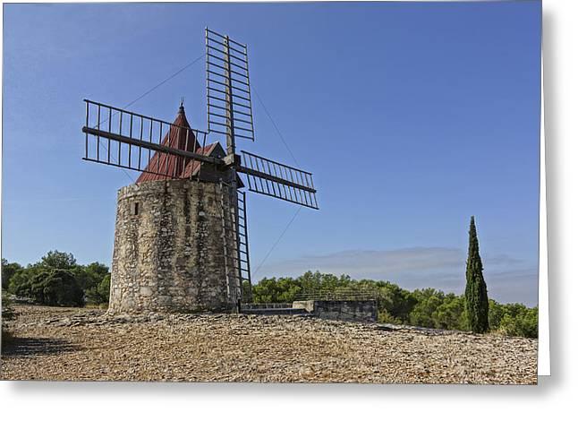 Moulin De Daudet Fontvieille France Dsc01833 Greeting Card by Greg Kluempers