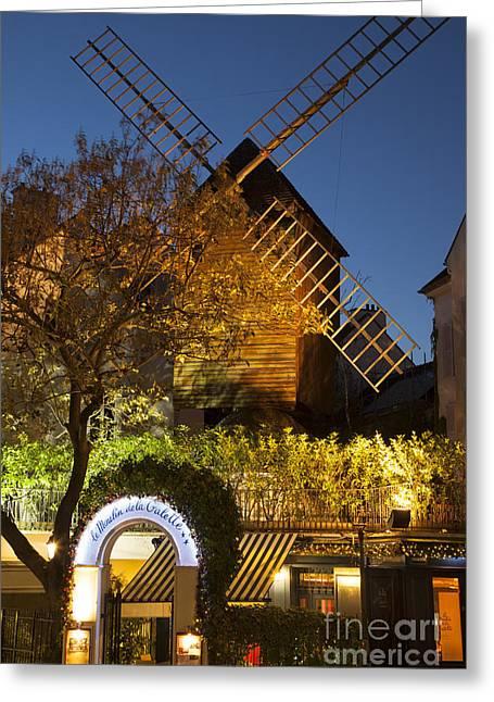 Moulin De La Galette Greeting Card by Brian Jannsen
