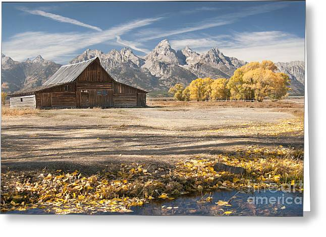 Moulton Barn Autumn Greeting Card