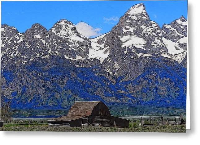 Moulton Barn In Grand Teton National Park Greeting Card by Dan Sproul