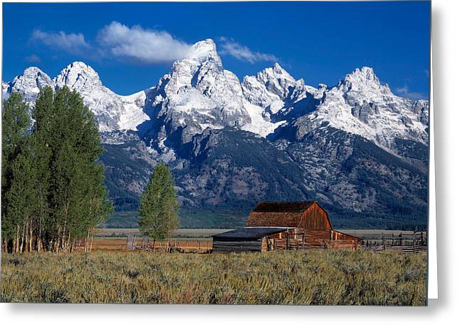 Moulton Barn Tetons Greeting Card by Leland D Howard