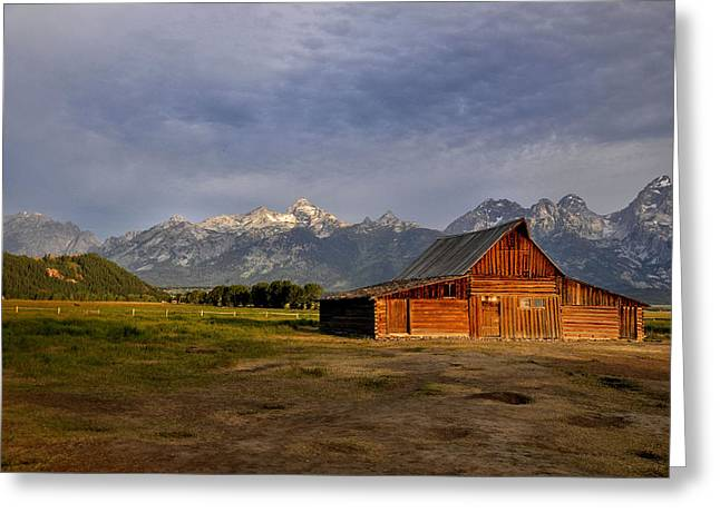 Moulton's Barn Greeting Card by Rob Hemphill