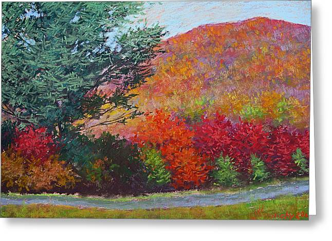 Moungtains In September Greeting Card by Julia Lesnichy