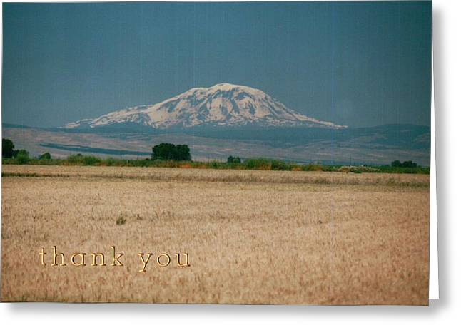 Mount Adams Washington And A Reminder To Utter The Words Thank You. Greeting Card