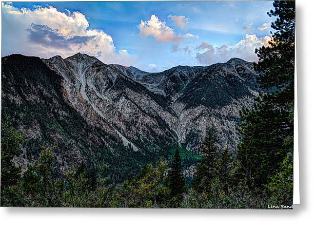 Mount Antero Greeting Card by Lena Sandoval-Stockley
