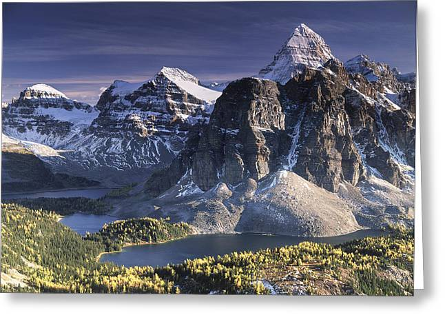 Mount Assiniboine In The Fall Greeting Card by Richard Berry
