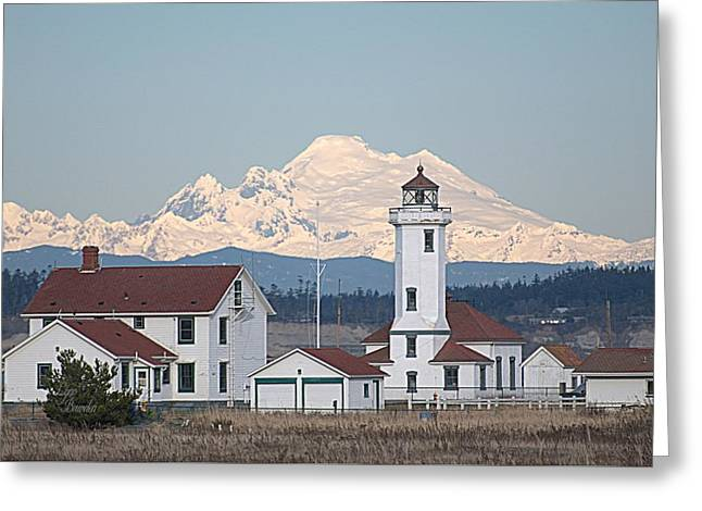 Mount Baker And Point Wilson Light Station Greeting Card