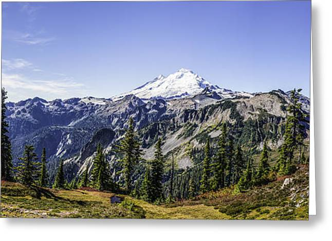 Mount Baker Greeting Card by Frank Pali