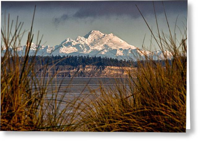 Mount Baker From Port Townsend Greeting Card