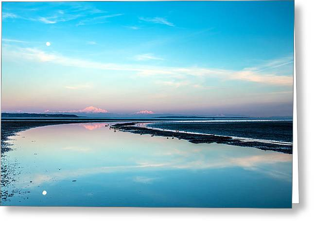 Mount Baker Landscape Reflection Greeting Card by Pierre Leclerc Photography