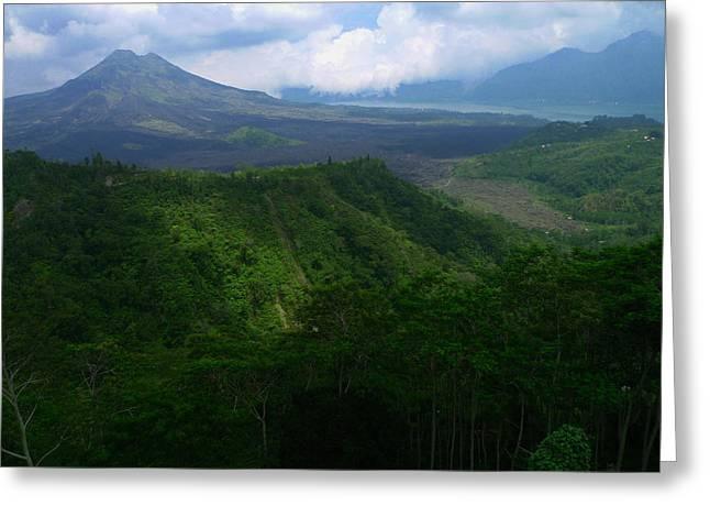 Mount Batur Bali Greeting Card