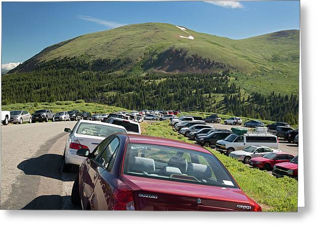Mount Bierstadt Hiking Trail Car Park Greeting Card by Jim West