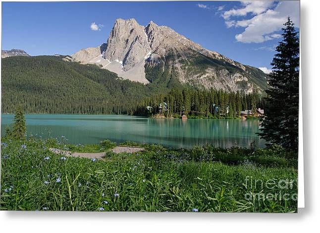 Mount Burgess And Emerald Lake Greeting Card by Charles Kozierok