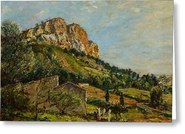 Mount Canaille  Cassis Greeting Card by Mark Fisher