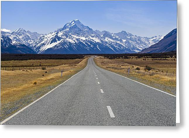 Mount Cook Greeting Card by Ng Hock How