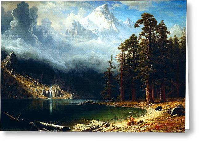 Mount Corcoran Greeting Card by Albert Bierstadt