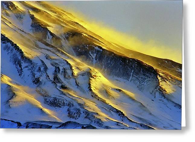 Mount Damavand At Dawn Greeting Card by Babak Tafreshi