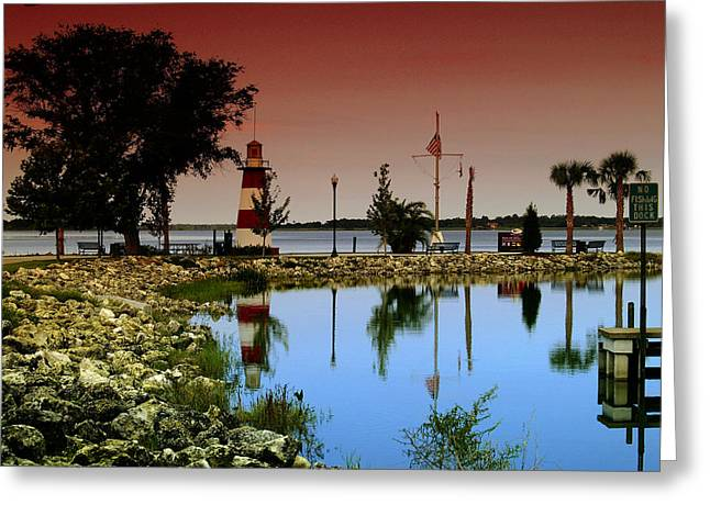 Greeting Card featuring the photograph Mount Dora Lighthouse by Randy Sylvia