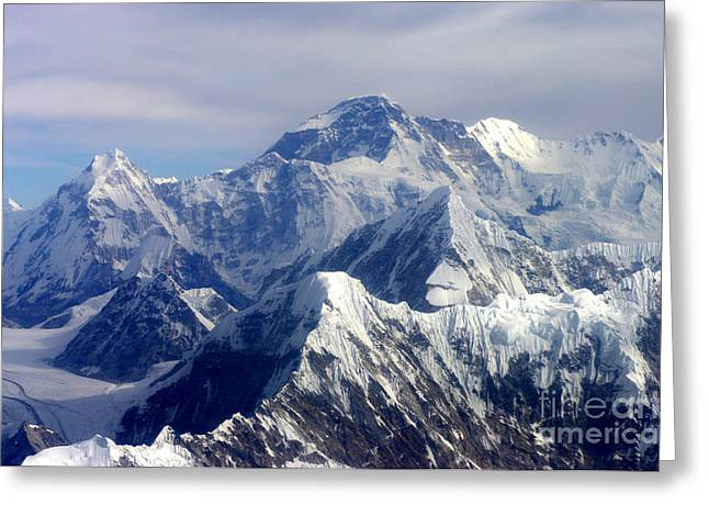 Greeting Card featuring the photograph Mount Everest  by Jacqi Elmslie