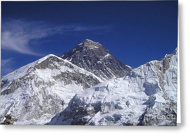 Mount Everest Greeting Card by Jan Wolf