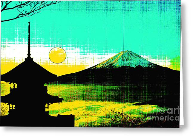 Mount Fiji Greeting Card by Celestial Images