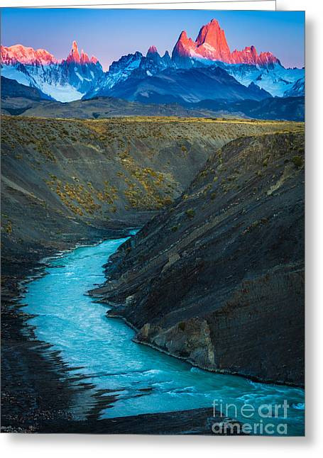 Mount Fitz Roy Greeting Card by Inge Johnsson