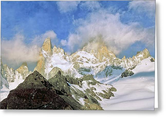 Mount Fitz Roy Seen From Laguna De Los Greeting Card