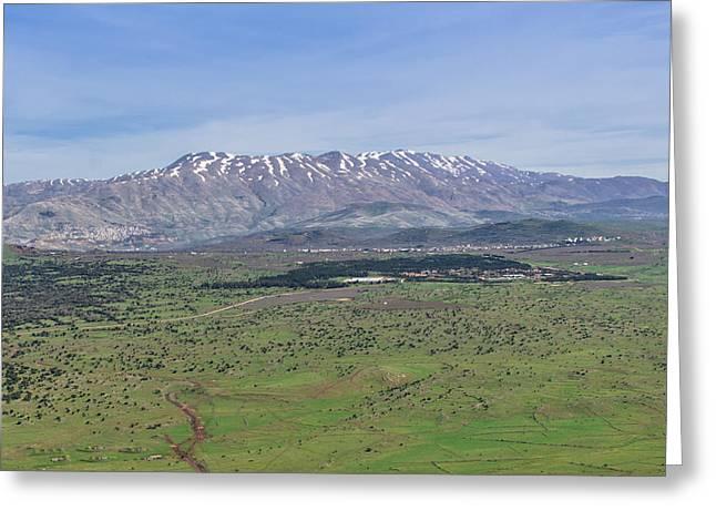 Mount Hermon, Golan Heights Greeting Card