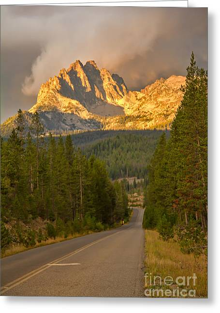 Mount Heyburn Greeting Card by Robert Bales