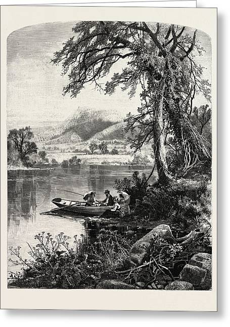 Mount Holyoke, From The Connecticut River Greeting Card by J.d. Woodward, John Douglas (1846?1924), American