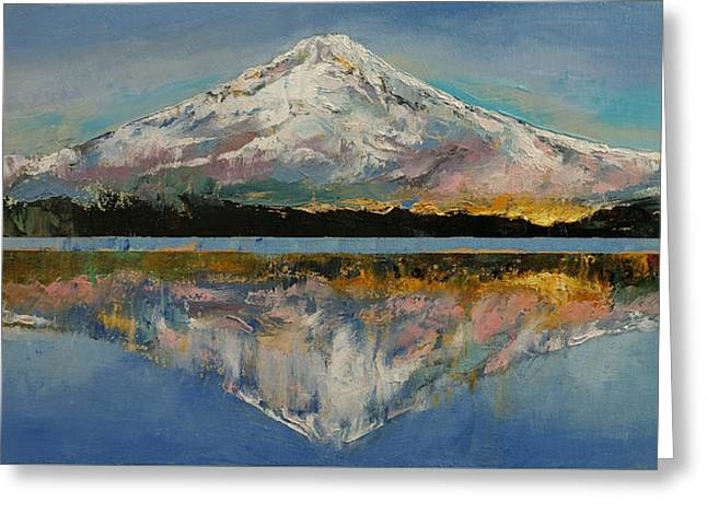 Mount Hood Greeting Card by Michael Creese