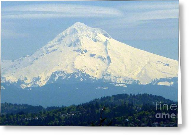 Mount Hood  Greeting Card by Susan Garren