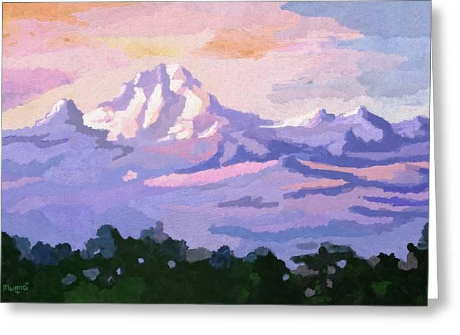 Mount Kenya At Dawn Greeting Card