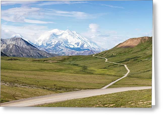 Mount Mckinley And Thorofare Pass Greeting Card