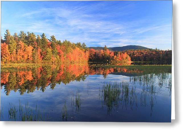 Mount Monadnock Howe Reservoir Foliage Greeting Card