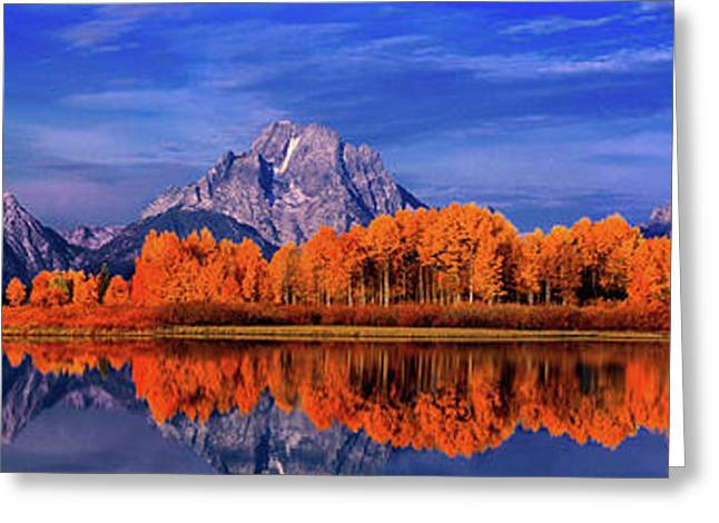 Mount Moran And Fall Color Grand Tetons Greeting Card