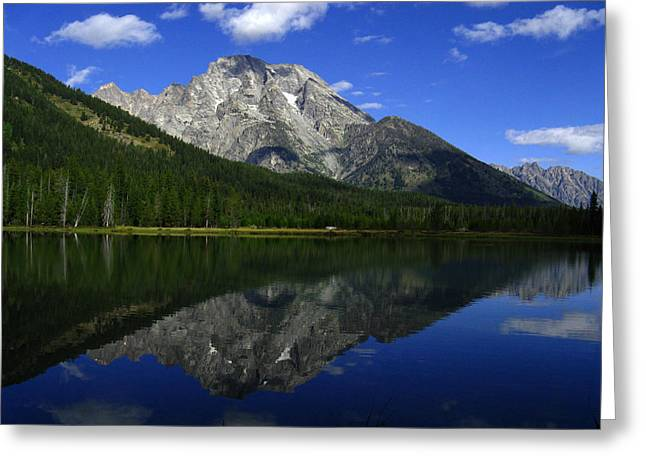 Greeting Card featuring the photograph Mount Moran And String Lake by Raymond Salani III