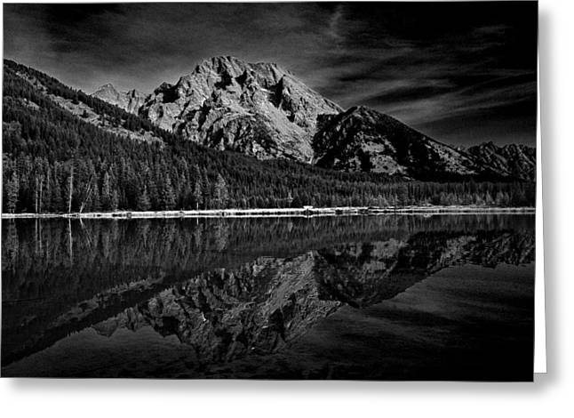 Mount Moran In Black And White Greeting Card