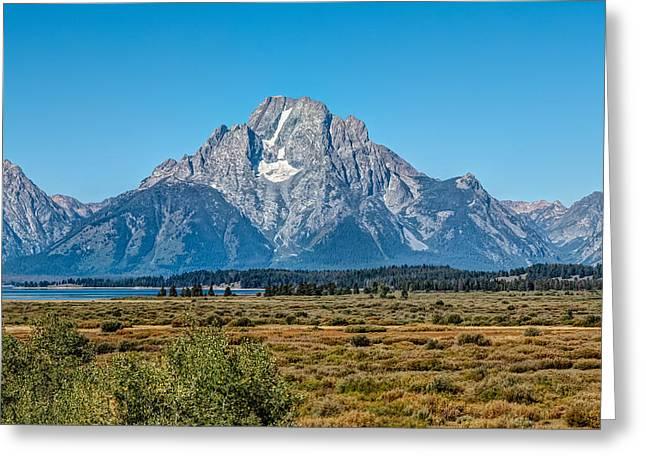 Mount Moran Greeting Card by John M Bailey