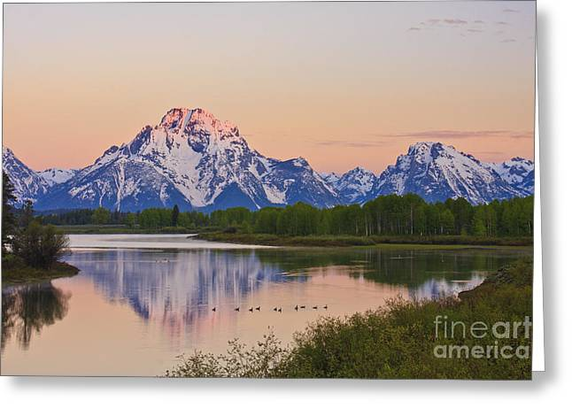 Mount Moran Sunrise Greeting Card