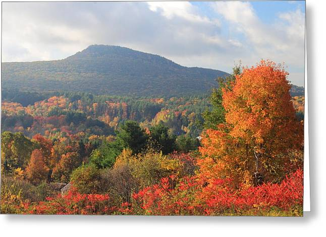 Mount Norwatuck From Mount Pollux In Autumn Greeting Card