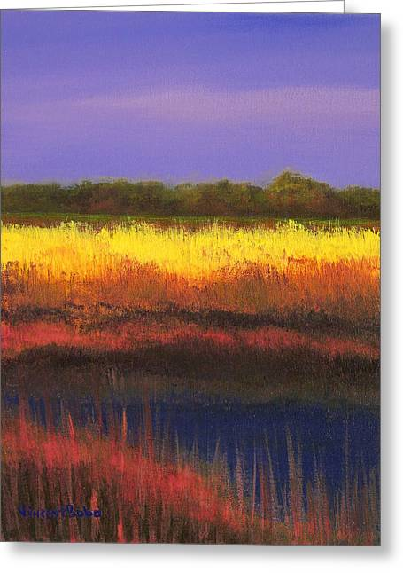 Mount Pleasant Evening Greeting Card by Vincent Bobo
