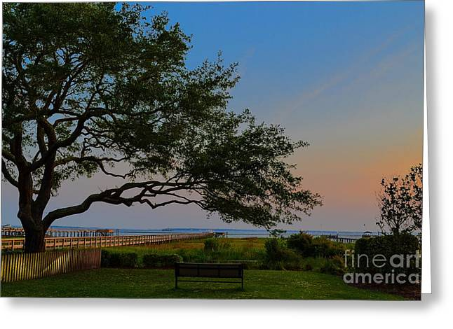 Mount Pleasant Sunset Greeting Card