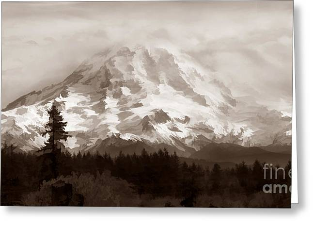 Mount Rainer Greeting Card