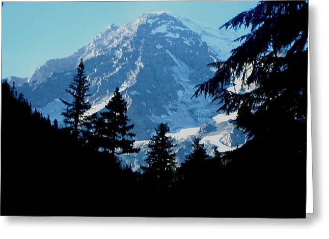 Mount Rainier 14 Greeting Card by Kathy Long