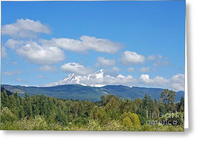 Mount Rainier As Viewed From The West Greeting Card